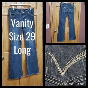 Vanity Jeans Size 29 Long Bling Rhinestones
